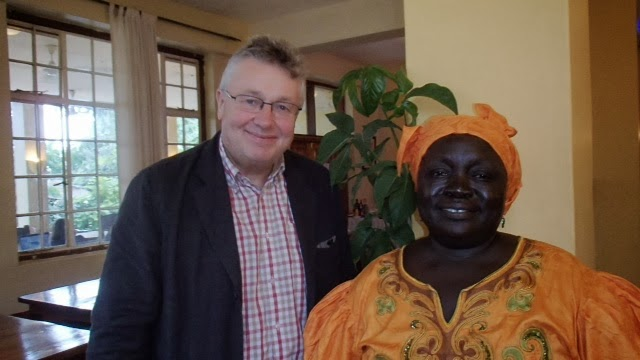 Peter the Women's Education Partnership Director and Joy Kwaje South Sudanese MP