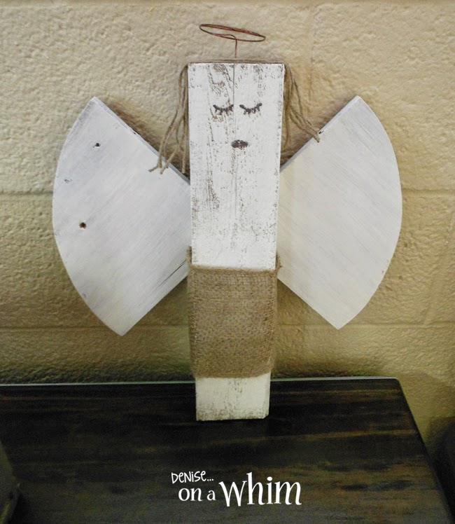 Angel Made from Repurposed Shelves and Scrap Wood from Denise on a Whim