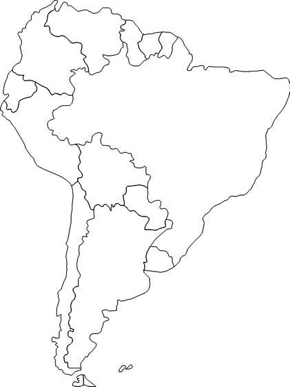 Mapa Mudo Amrica Do Sul Poltico