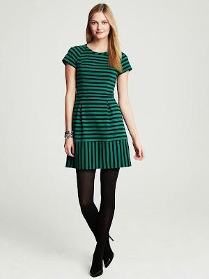 yatay çizgili yeşil elbise, kısa elbise, 2014 elbise modelleri
