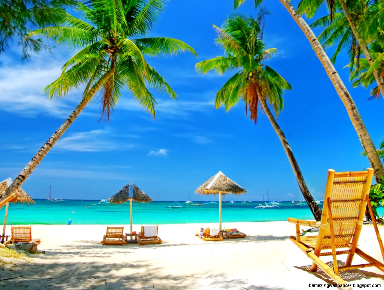 Tropical Beach Paradise   wallpaper