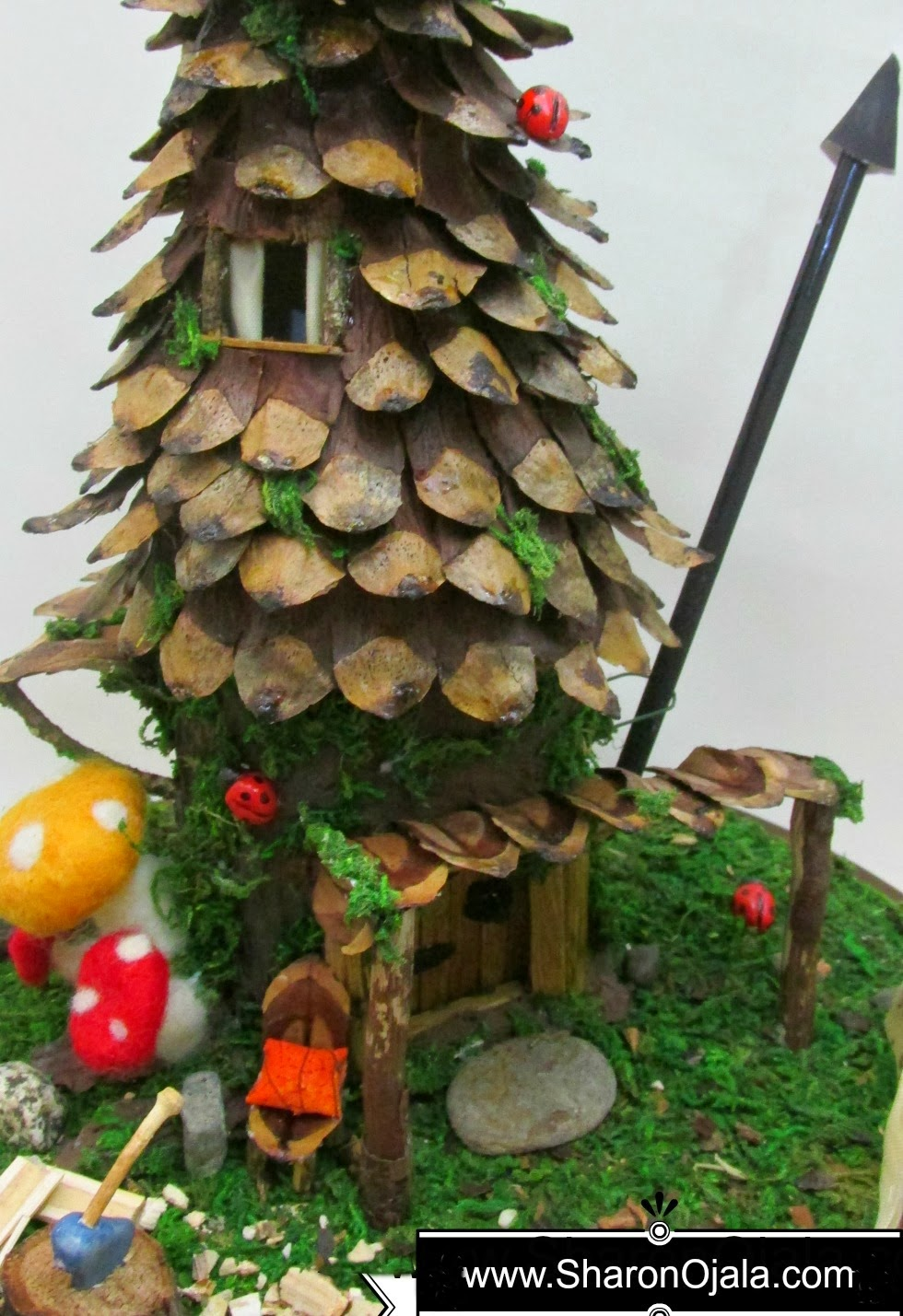Homemade Obsessions Video Fairy House Roof Tutorial
