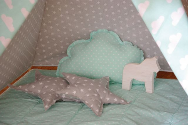 poduszki do tipi, poduszka do namiotu, poduszka gwiazda, poduszka chmura, poduszka gwiazdka