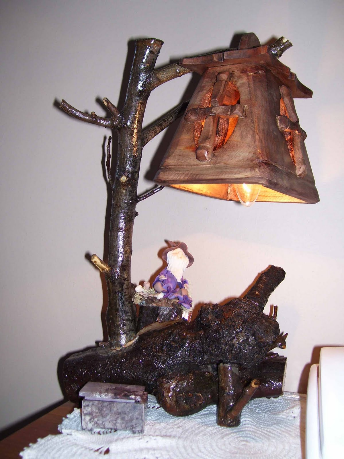 mis artesan as l mparas de velador con duendes