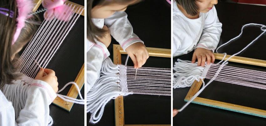 tejiendo en un telar diy7