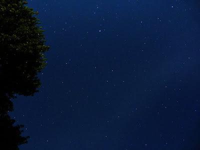 The night sky from Bob's backyard