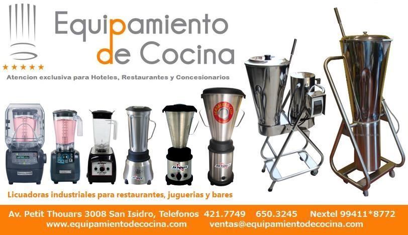 Equipamiento de cocina licuadoras industriales peru for Utensilios de cocina licuadora