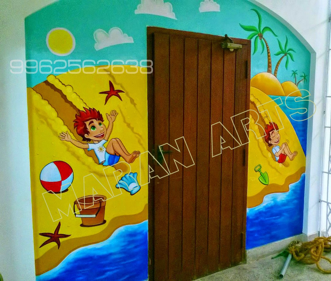 kids cartoon wall art for play schools in chennai ,kidswallpainting ...