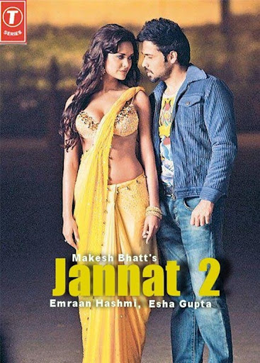 esha gupta yellow saree jannat 2 hot poster - esha gupta hot in jannat 2 posters