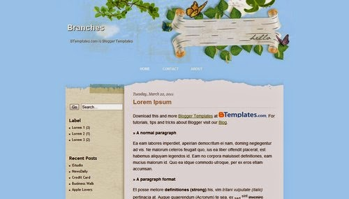 Branches - Free Blogger Template