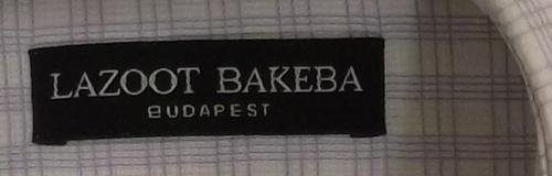 Lazoot Bakeba Budapest férfi ing márka címke