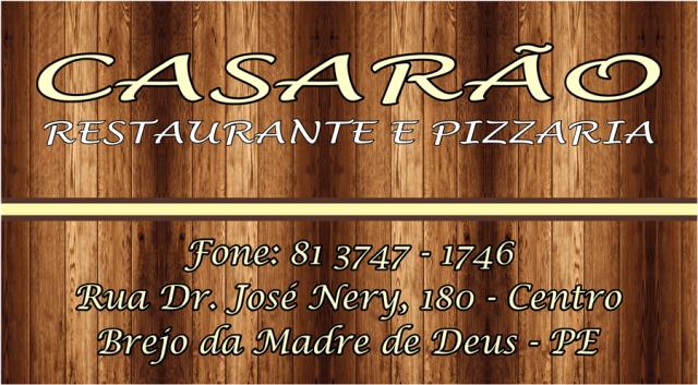 Clique na imagem e Conheça O Casarão Restaurante e Pizzaria