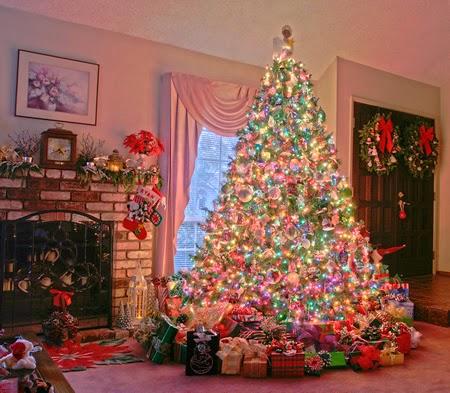 arbol de navidad colorido