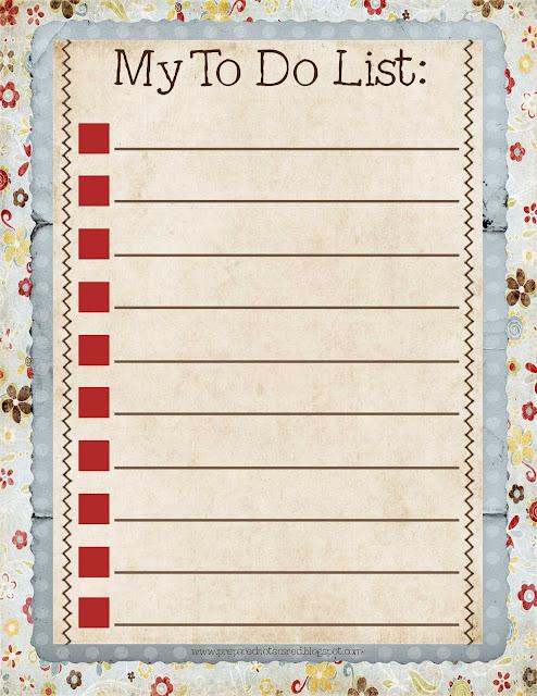 Blank To Do List I make lists, i make a list