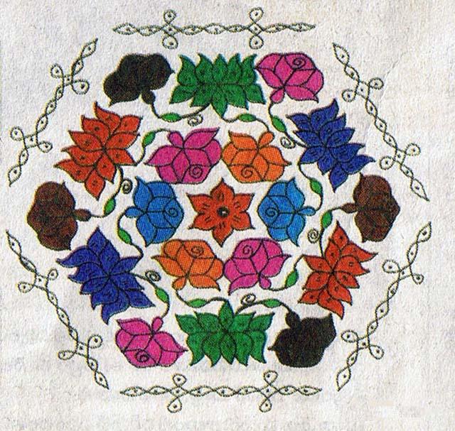 Flowers Rangoli Muggu