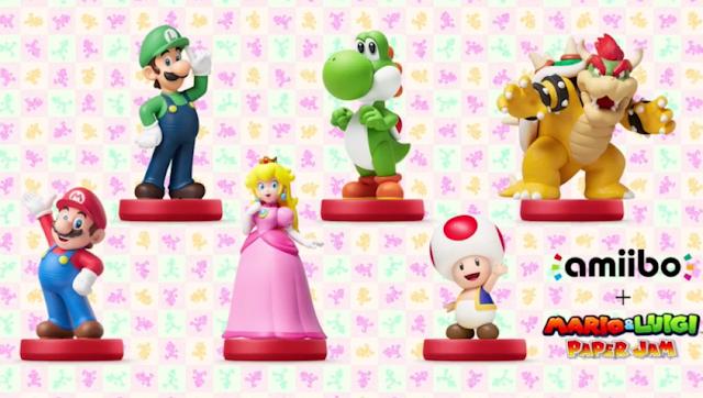 Compatible amiibo Mario & Luigi Paper Jam 3DS
