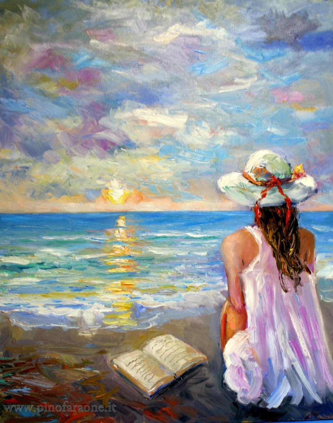 Top Impressionismo contemporaneo: pensieri del mare NL86