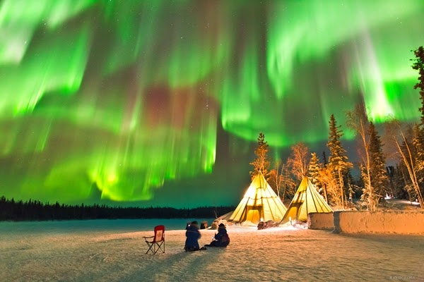 Pesona Aurora Borealis di Utara Kanada