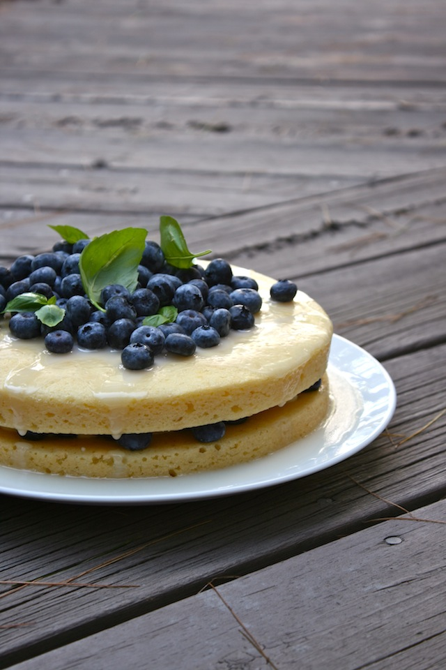 Summery Sweets: Lemon Yogurt Cake with Basil and Blueberries, Mhmm ...