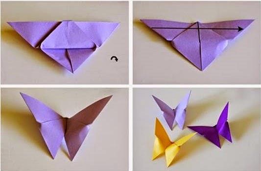 DIY - Origami de mariposa | anapakova