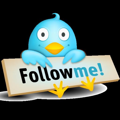 Logo de Twitter pidiendo seguidores