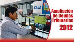Ampliación de Deudas Tributarias 2012