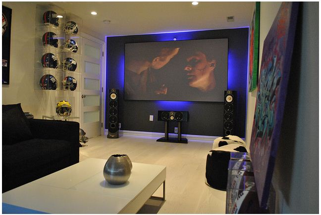 Superbe The Ultimate Man Cave Of Former NY Giants Star Sports Anthem Electronics U0026  Paradigm Speakers