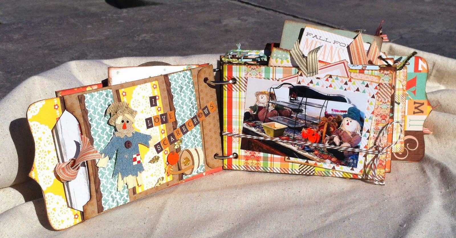 Scrapbook ideas list - We Have Had A Few Fall Outings And The Photos I Took Fit Right Into This Scrapbook Album Perfectly Completing A Project With My Photos Is Sometimes