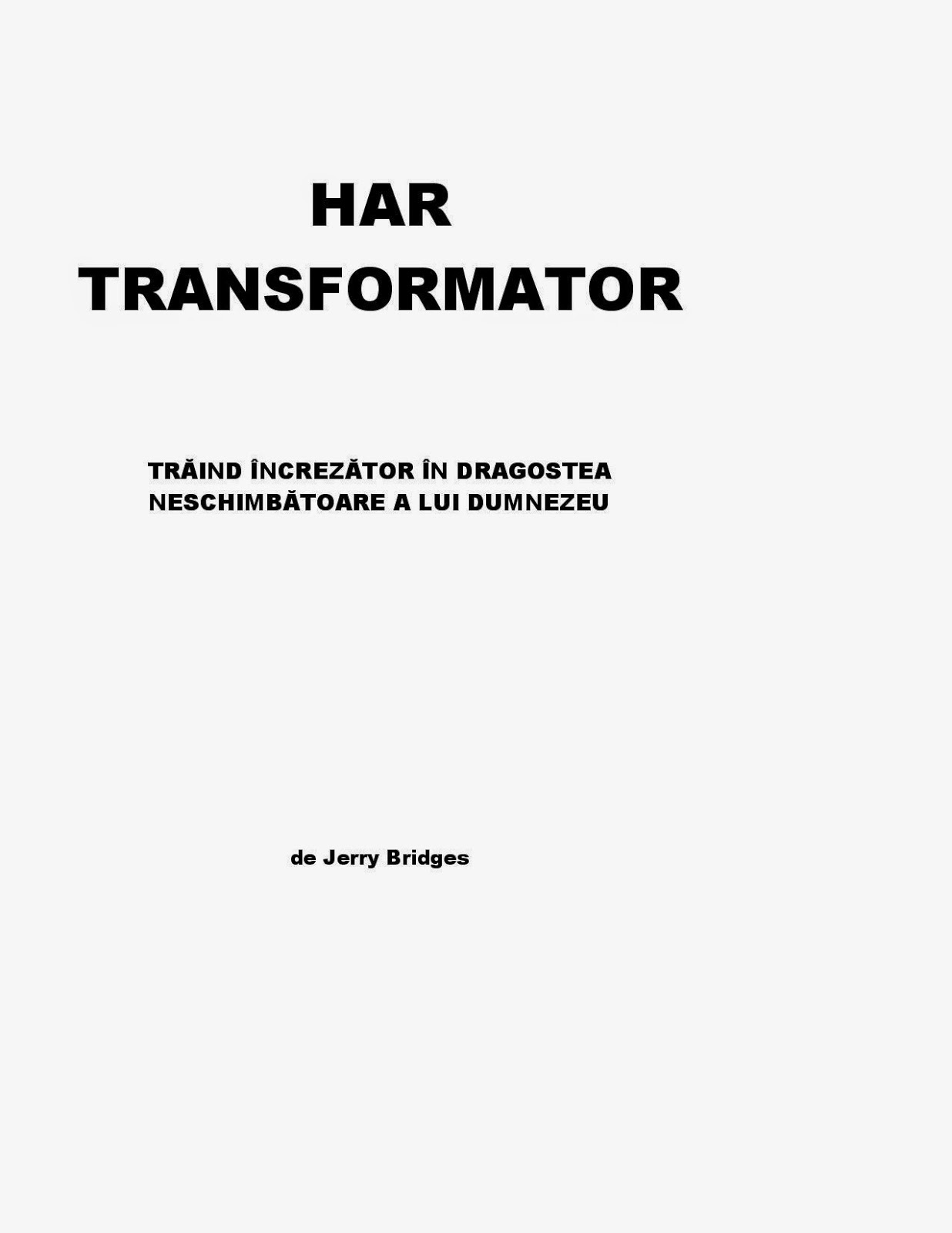 Jerry Bridges-Har Transformator-