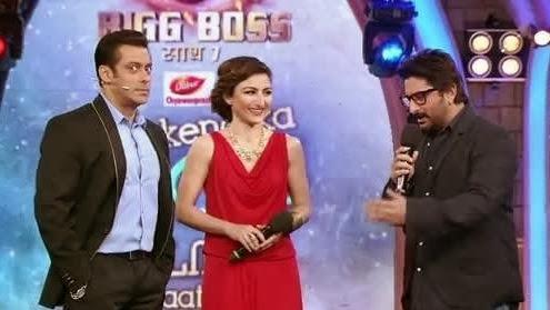 Arshad Warsi and Soha Ali Khan in Bigg Boss