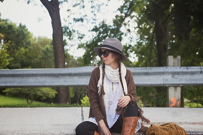 Fringe-sweater-wool-fedora-Fall-Chic