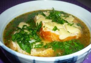 Receita de Sopa de cebola e vinho branco