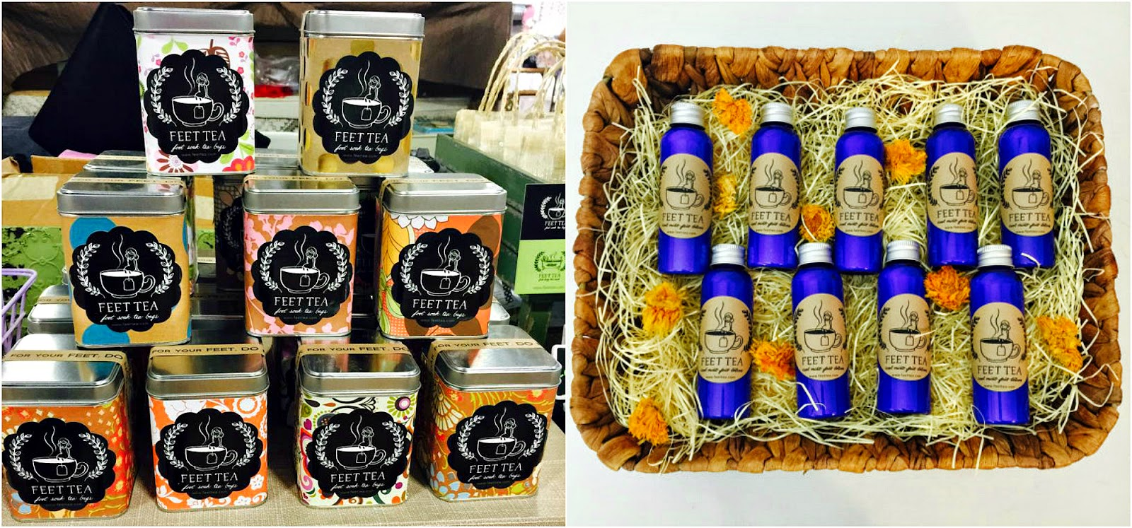 Feet Tea feature & GIVEAWAY on Shop Small Saturday at Diane's Vintage Zest!  #beauty #relax #spa #gift