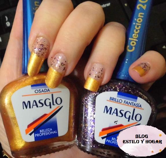 El efecto de por si ya es precioso, será como si hubieras bañado el filo de tus uñas en oro.