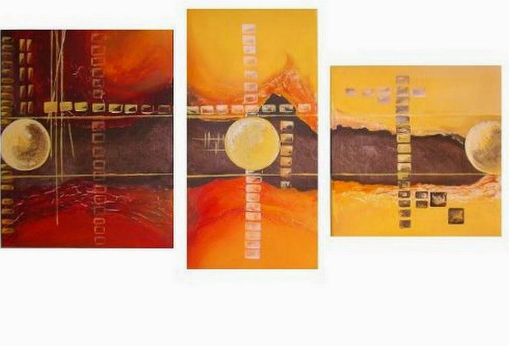 Cuadros modernos pinturas y dibujos 20 cuadros decorativos modernos para living for Imagenes de cuadros abstractos tripticos