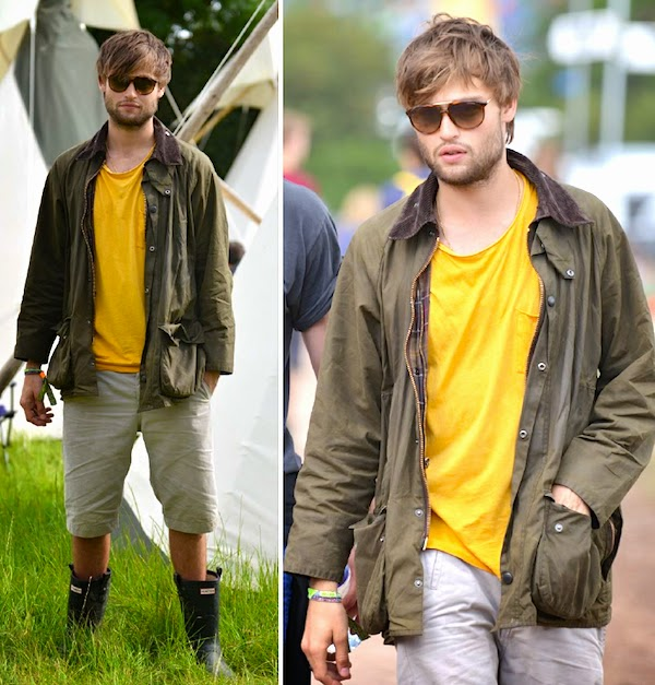 Douglas Booth Carrera sunglasses at Glastonbury Music Festival 2014