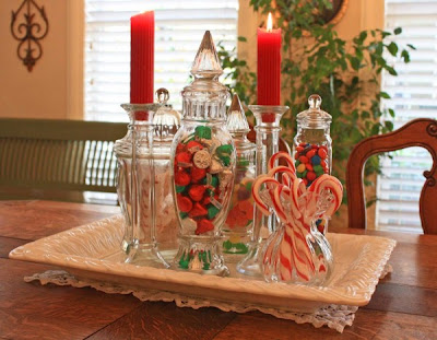Christmas Candy Decoração de Natal: Decoração da Mesa de jantar