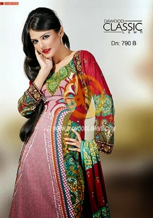Dawood Classical Lawn Designs 2014