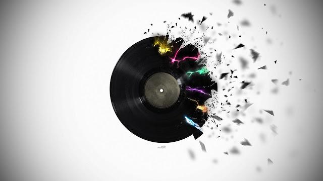 Shattered Vinyl Vector