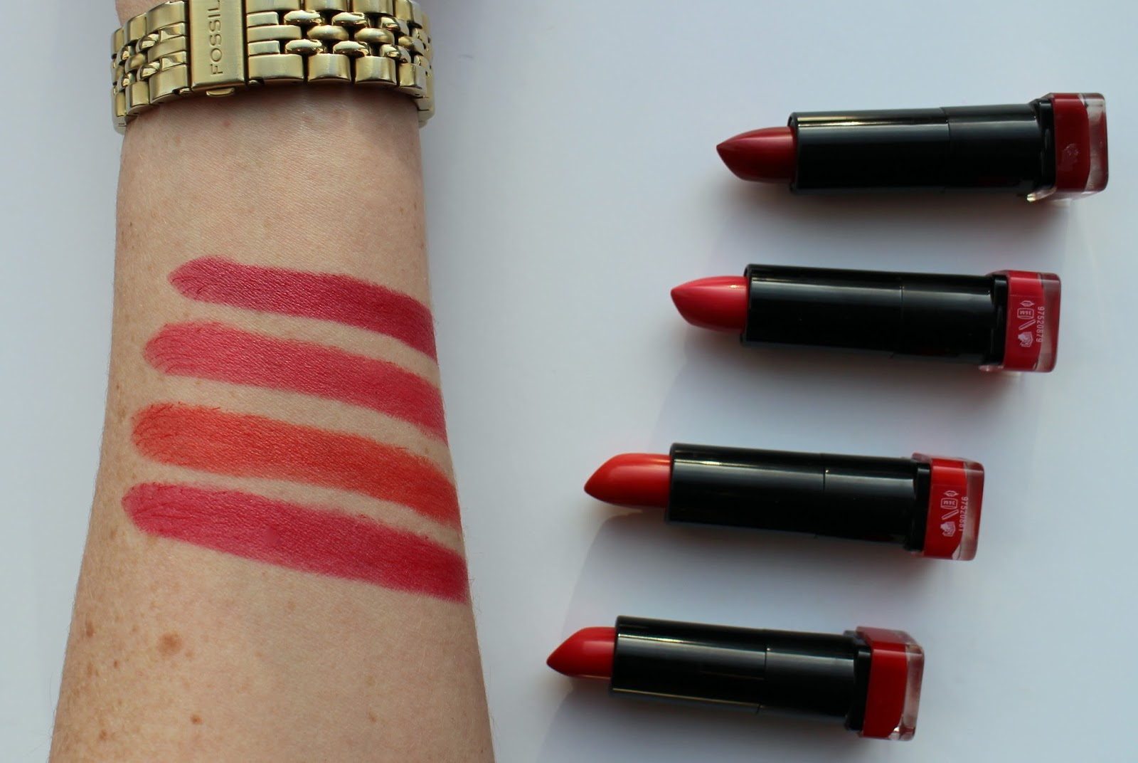 Max Factor Marilyn Monroe Lipsticks: Review & Swatches   Strawberry ...