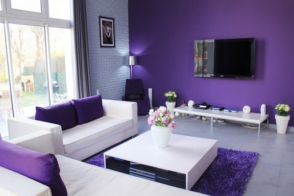 Purple Color Can Be An Inspiration For Those Who Want To Create An  Impression Of Luxurious Elegance In The Middle Of The Living Room. With The  Color Purple, ...