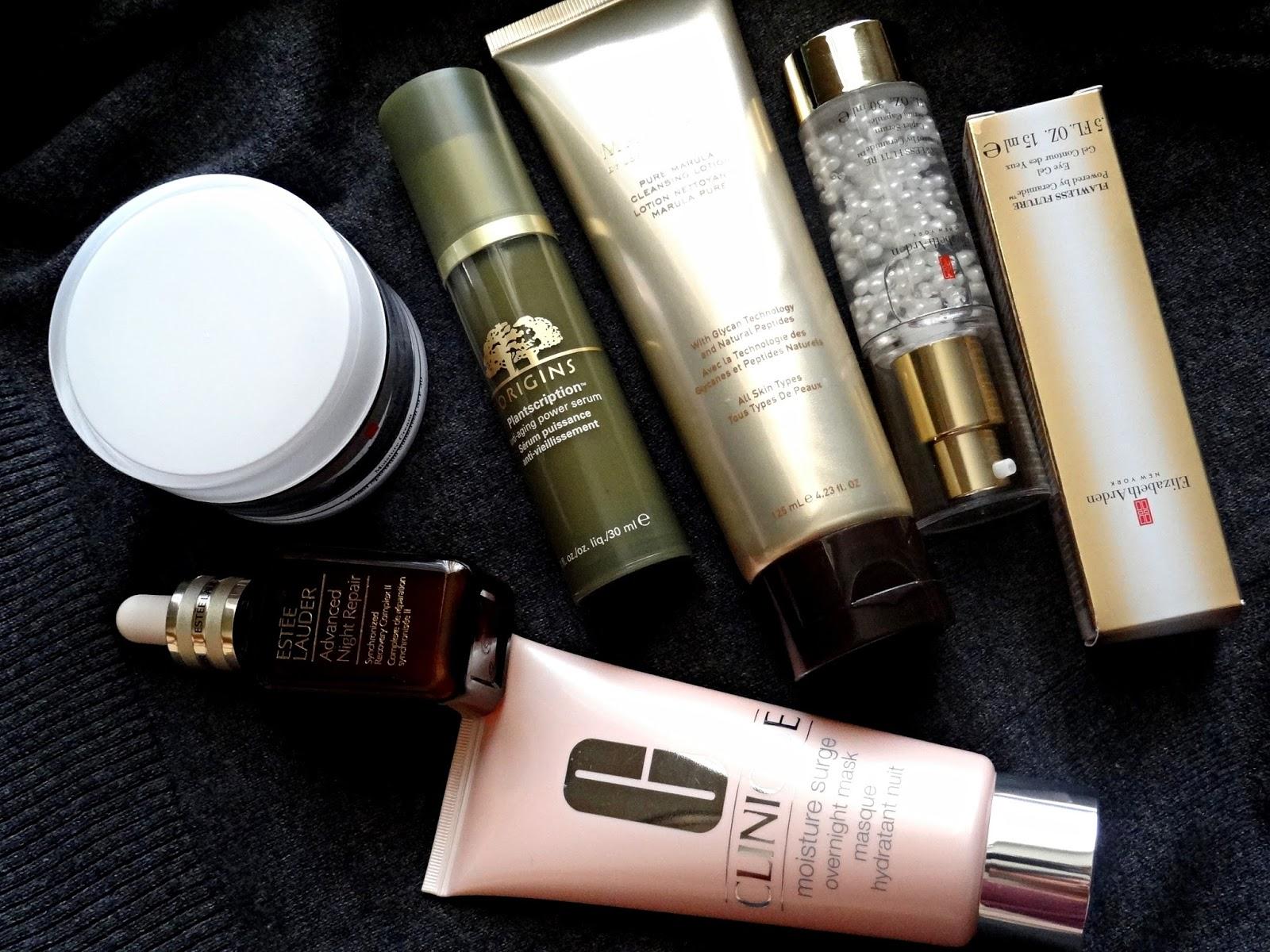 Skincare Trials from Elizabeth Arden, Estee Lauder, John Paul Marula, Origins