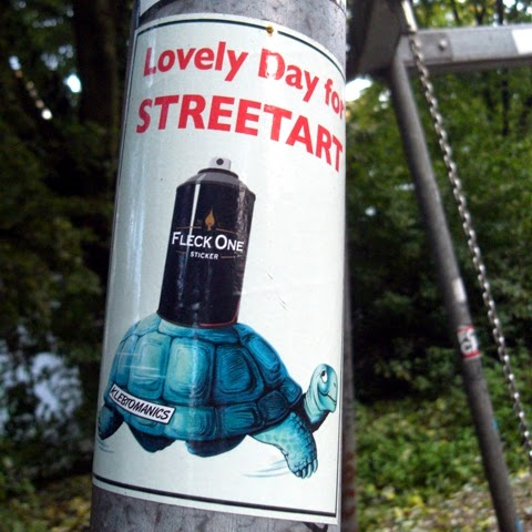 streetart aufkleber
