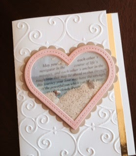 Wedding shaker card by Kimberly Rendino | beach wedding | kimpletekreativity.blogspot.com