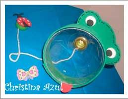 Balero rana con botellón plástico