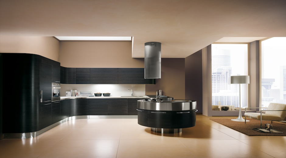Una isla circular para cocinar en compa a cocinas con - Cocinas para cocinar ...