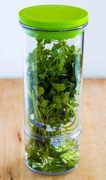 Prepworks Progressive Fresh Herb Keeper (and Ten Favorite Recipes with Fresh Herbs) found on KalynsKitchen.com