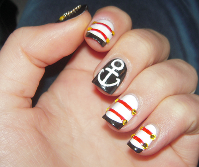 Marine nails pinterest images marine life nail art designs prinsesfo Images