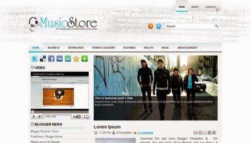 MusicStore - Free Blogger Template