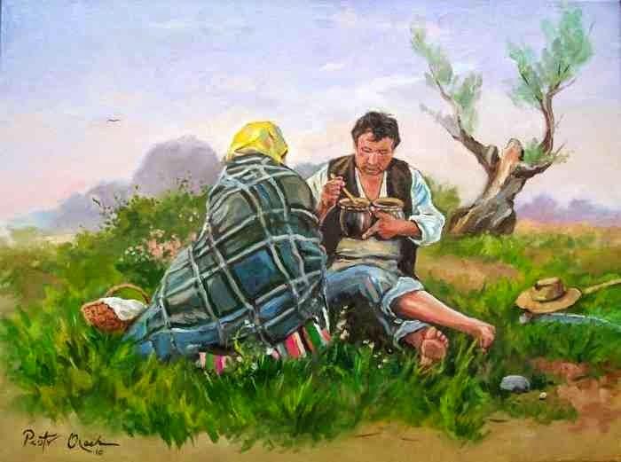 Польский художник. Piotr Olech